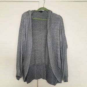 Express gray hooded cardigan